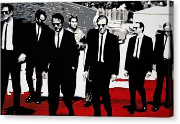 Reservoir Dogs Canvas Print by Luis Ludzska