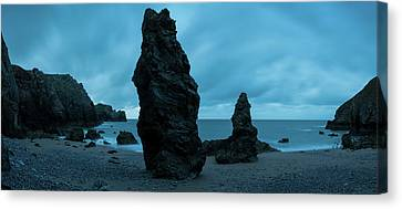 Rock Formations On The Beach Canvas Print