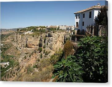 Canvas Print featuring the photograph Ronda by Christian Zesewitz