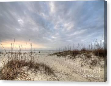 Salinas Park Beach On Cape San Blas Canvas Print by Twenty Two North Photography