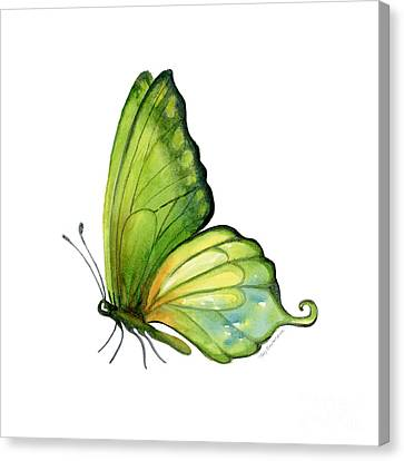 5 Sap Green Butterfly Canvas Print by Amy Kirkpatrick