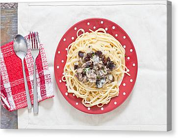 Sardines And Spaghetti Canvas Print by Tom Gowanlock