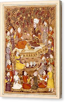 Shahnameh. The Book Of Kings. 16th C Canvas Print
