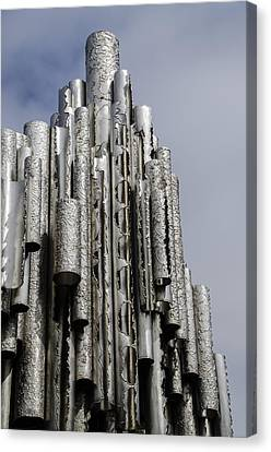 Sibelius Pipe Monument - Helsinki Finland Canvas Print by Jon Berghoff