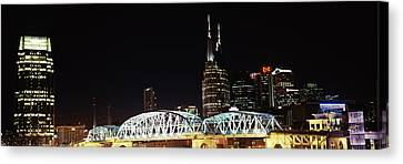 Skylines And Shelby Street Bridge Canvas Print