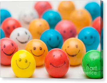 Smiley Face Gum Balls Canvas Print