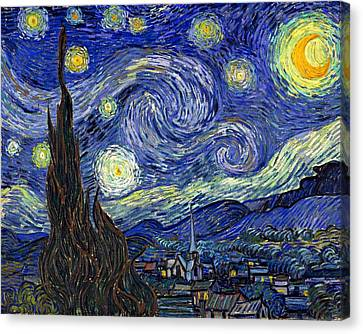 Canvas Print featuring the painting Starry Night  by Vincent Van Gogh