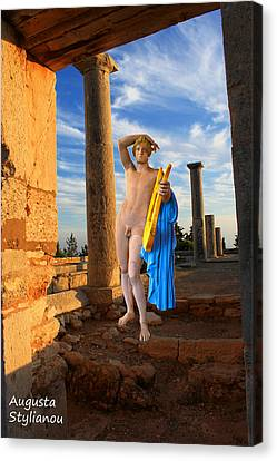 God Of Light Canvas Print - Temple Of Apollo  by Augusta Stylianou