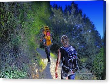 5 Terre Monterosso Trekking In Passeggiate A Levante Canvas Print by Enrico Pelos