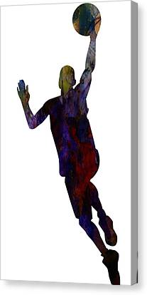 The Basket Player Canvas Print by Celestial Images