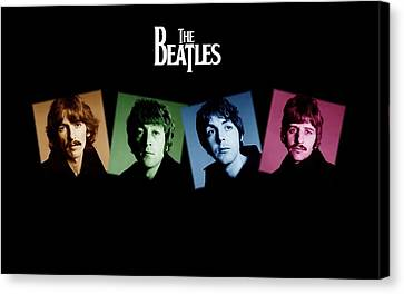 The Beatles Canvas Print by Kenneth A Mc Williams