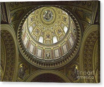 The Interior Of The Church Canvas Print by Odon Czintos