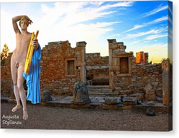 God Of Light Canvas Print - The Palaestra - Apollo Sanctuary by Augusta Stylianou