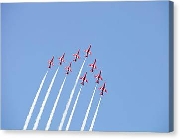 Raf Canvas Print - The Red Arrows by Ashley Cooper