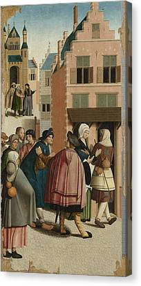 The Seven Works Of Mercy, Master Of Alkmaar Canvas Print