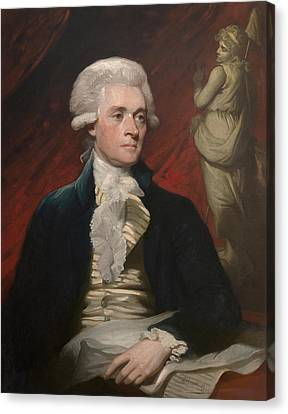 Thomas Jefferson - By Mather Brown Canvas Print