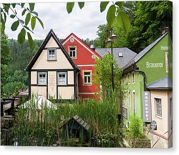 Traditional Half-timbered Buildings Canvas Print