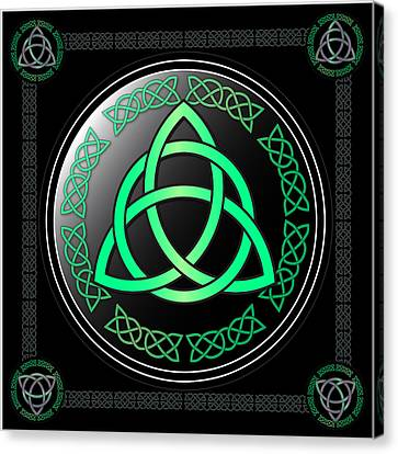 Triquetra Canvas Print by Ireland Calling