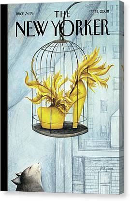Juans Canvas Print - New Yorker September 1st, 2008 by Ana Juan