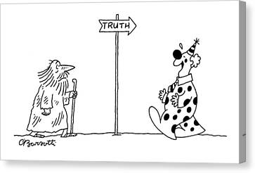 New Yorker September 3rd, 2007 Canvas Print by Charles Barsotti