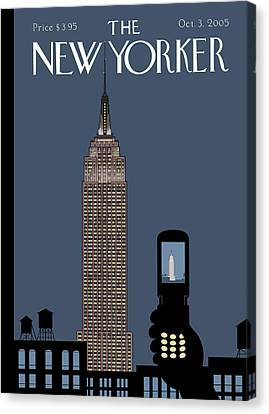 New Yorker October 3rd, 2005 Canvas Print by Chris Ware