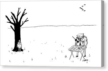 Apple Tree Canvas Print - New Yorker October 10th, 2016 by Edward Steed
