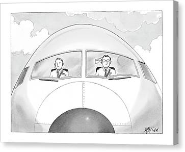 Paper Airplanes Canvas Print - New Yorker January 16th, 2006 by Harry Bliss
