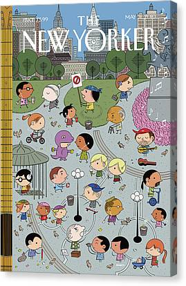 New Yorker May 31st, 2010 Canvas Print by Ivan Brunetti