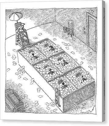 Captionless; Paper Cubicles Canvas Print by John O'Brien