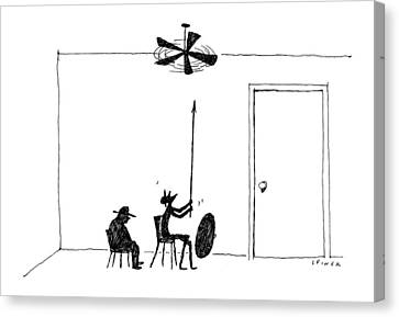 Don Quixote Canvas Print - New Yorker February 13th, 2017 by Liana Finck