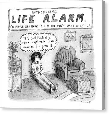 New Yorker October 3rd, 2016 Canvas Print by Roz Chast
