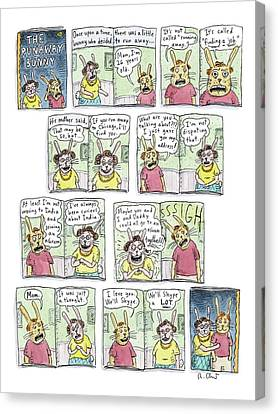 The Runaway Bunny Canvas Print by Roz Chast