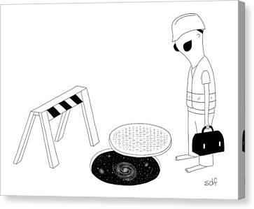 New Yorker August 29th, 2016 Canvas Print by Seth Fleishman