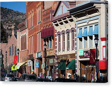 Usa, Colorado, Manitou Springs, Manitou Canvas Print by Walter Bibikow
