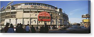 Ballpark Canvas Print - Usa, Illinois, Chicago, Cubs, Baseball by Panoramic Images