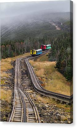 Railroads Canvas Print - Usa, New Hampshire, White Mountains by Walter Bibikow