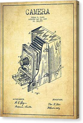 Vintage Camera Patent Drawing From 1887 Canvas Print by Aged Pixel