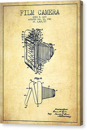 Vintage Film Camera Patent From 1948 Canvas Print