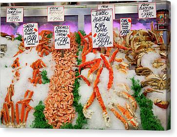 Wa Canvas Print - Wa, Seattle, Pike Place Market by Jamie and Judy Wild