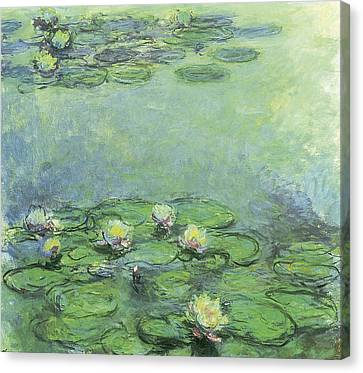 Waterlily Canvas Print - Water Lilies by Claude Monet