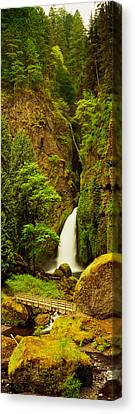 Waterfall In A Forest, Columbia River Canvas Print
