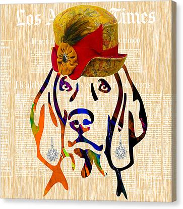 Weimaraner Collection Canvas Print by Marvin Blaine