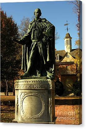 William And Mary College With Wren Building Canvas Print by Jacqueline M Lewis