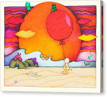 Woobies Character Baby Art Colorful Whimsical Design By Romi Neilson Canvas Print by Megan Duncanson