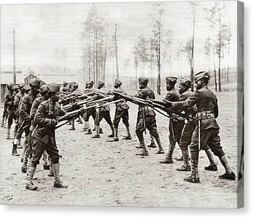 World War I Training Canvas Print by Granger