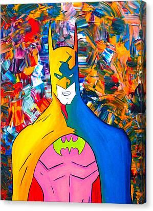 50/50 Batman Canvas Print by Cevin Cox