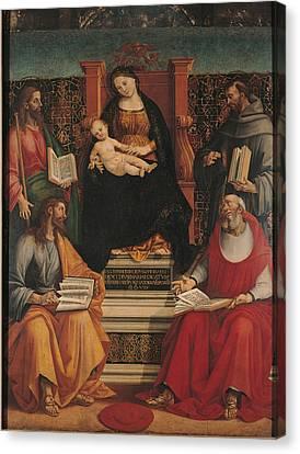 Italy, Lombardy, Milan, Brera Art Canvas Print by Everett