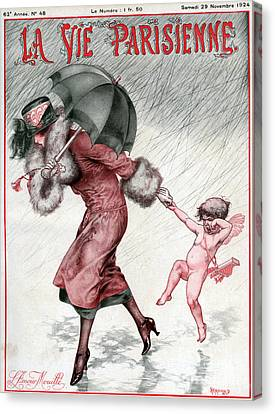 La Vie Parisienne 1924 1920s France Canvas Print by The Advertising Archives