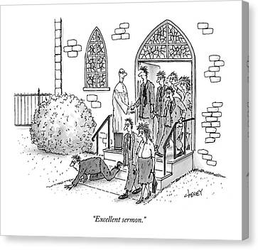 Excellent Sermon Canvas Print by Tom Cheney