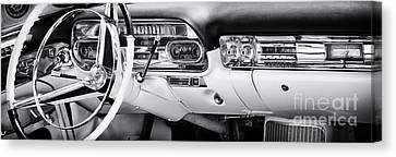 Speedometer Canvas Print - 50s Cadillac Dashboard by Tim Gainey